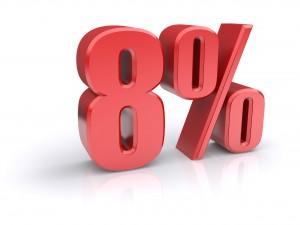 8 percent sign