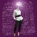 woman enterpreneur light bulb