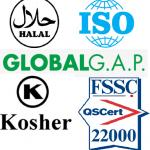 iso halal globalgap kosher
