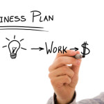 Businessman with a strategy plan to be successful in his business